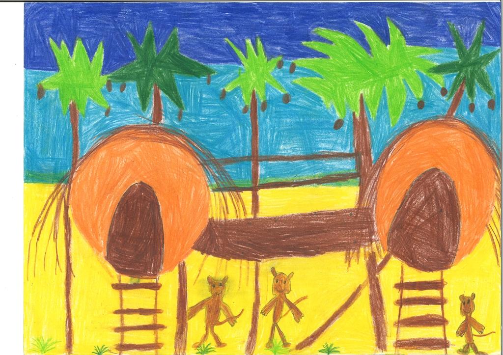 Mein Kokosnusshaus (mit Affen) am Strand